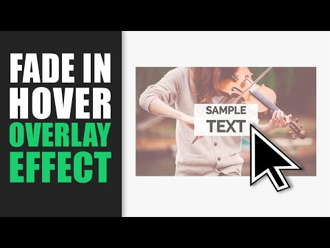 Fade In Hover Overlay Effect on Image Tutorial using HTML and CSS