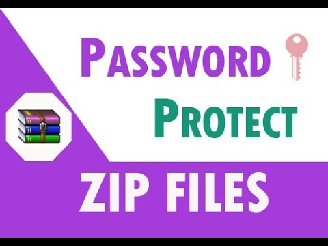 How to password protect zip files or folders
