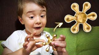 Download FIDGET SPINNER DOURADO QUE GIRA MAIS DE 4 MINUTOS!! Gold Hand Spinner Fidget Toy Spinning Wheel BR Video
