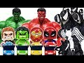 Villains In Tayo Town Go Avengers Hulk Spider Man Iron Man Captain America Toys Play