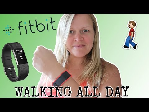 WALKiNG ALL DAY iN A FiTBiT CHALLENGE