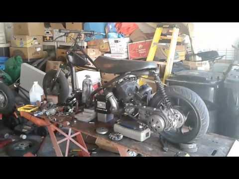 650CC 2 STROKE TWIN JET SKI ENGINE IN A SCOOTER INSANE YALL!!!