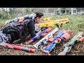 LTT Game Nerf War Winter Warriors SEAL X Nerf Guns Fight Criminal Group Rocket Assassination 2