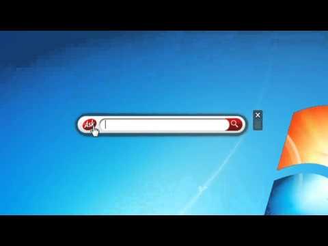 The Search Bar Windows 7 Desktop Gadget