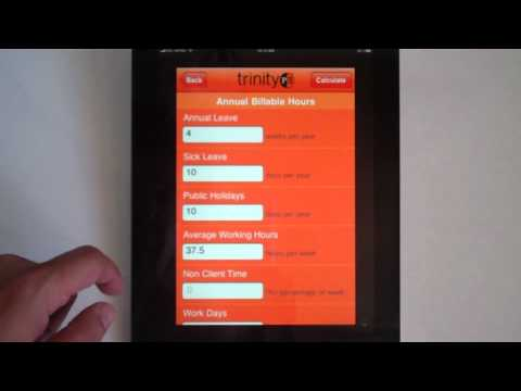 How to calculate the agency salaries using the TrinityP3 Resource Rate Calculator iPhone App