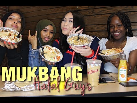 MUKBANG W/ HALAL GUYS |  GIRL TALK (TAKING BACK OUR MANS AFTER CHEATING, PUBLIC RELATIONSHIPS)