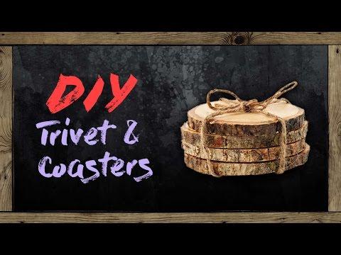 How to make easy Wooden Trivets & Coasters | DIY | Ketaki Haldipurkar