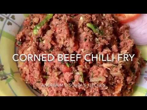 Corned Beef Chilli Fry
