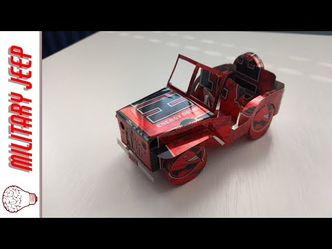 Willys MB Military Jeep - How to make from cans (Powered by Hell Energy)