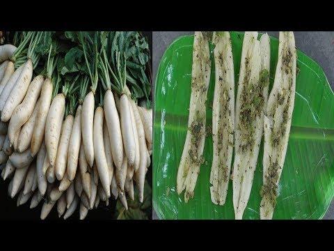 VILLAGE SPECIAL RADISH SNACKS / FARM FRESH RADISH / HEALTHY VILLAGE FOOD