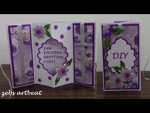 DIY Fan Folding 3D Greeting Card