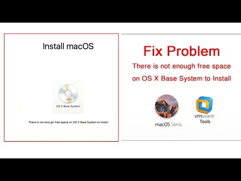 Fix Problem | There is not enough free space on OS X Base System to Install