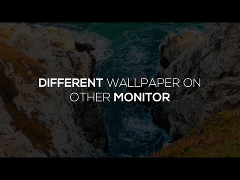 Windows 10 - Set Different Backgrounds On Multiple Monitors