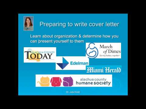 Strategies for Writing Cover Letters