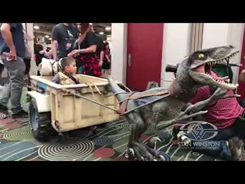 Jurassic World Velociraptor Magic Wheelchair Costume Reveal at SLCC