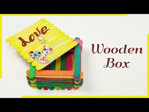 Popsicle Stick Crafts, Ice Cream Stick Box for Jewelry Box, Gift box, Desk Organizer
