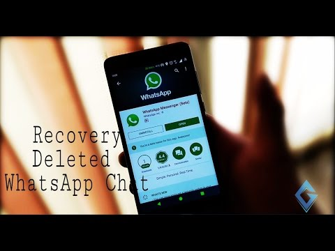 How To Recover Deleted Whatsapp Messages Quick And Easy Way -2018