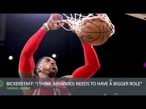 FanDuel Insider 12/22: Rockets' Bickerstaff wants Howard to have a bigger role