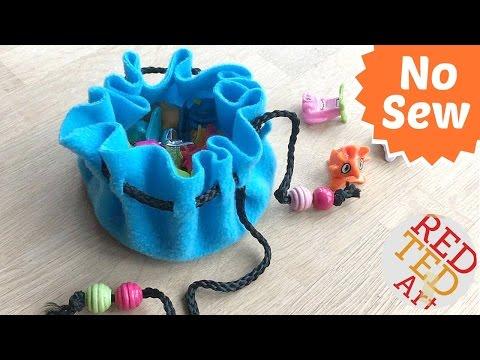 No Sew Pouch - No Sew Drawstring Bag - Cute & Easy DIY