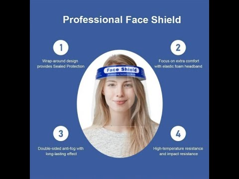 Hot sale on Amazon ! Safety & Reusable & Adjustable Face Shield