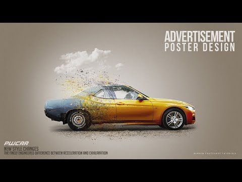 Make a Car Advertisement Poster Manipulation Concept in Photoshop