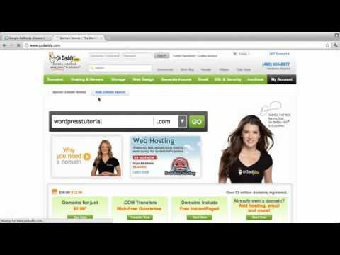 How to buy domain using Godaddy to build wordpress website.