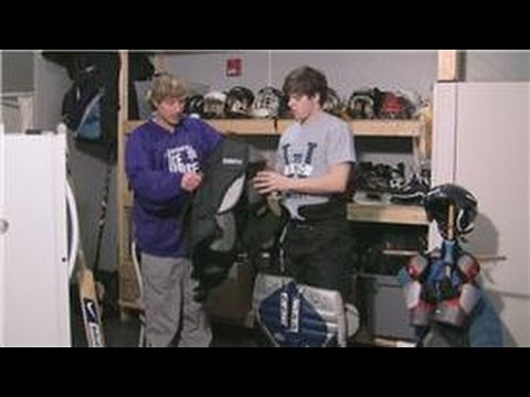 Ice Hockey Tips : How to Put on Hockey Goalie Pads