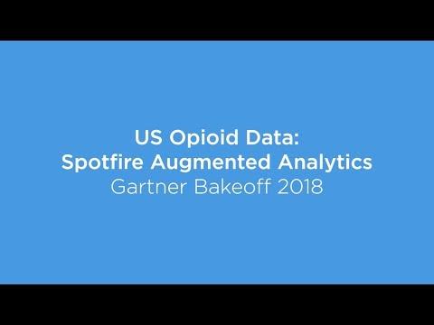 US Opioid Data: Spotfire Augmented Analytics - Gartner Bakeoff 2018