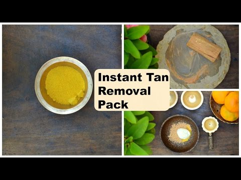 Instant Tan Removal Face Pack & Body Pack | Remove Suntan From Hands, Legs & Face Naturally At Home