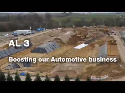 On the rise: Hydro's Automotive Line 3/Wie sie wächst: Hydro baut Automobillinie 3