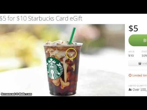 50% off $10 Starbucks Card