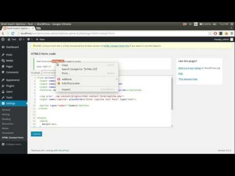 WordPress HTML Contact Form Plugin