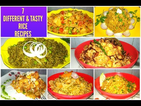 7 Rice Recipes/7 Days-Week Rice Recipes/Healthy One Pot Meal/Your Kids Will Love These 7 Rice Ideas