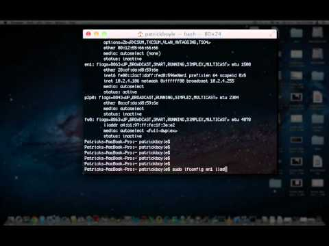 How to Spoof your MAC address in Mac OS X - OSX 10.1 - 10.8
