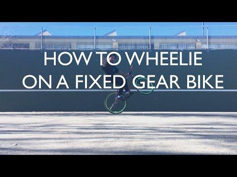 How To Wheelie on a Fixed Gear Bike