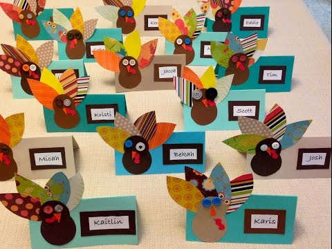 How to Make Thanksgiving Turkey Place Cards