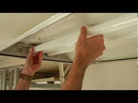 How to install a T8 electronic fluorescent ballast in an old magnetic T12 ballast fixture