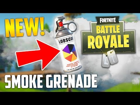 NEW SMOKE GRENADE UPDATE!! (Fortnite Battle Royale)