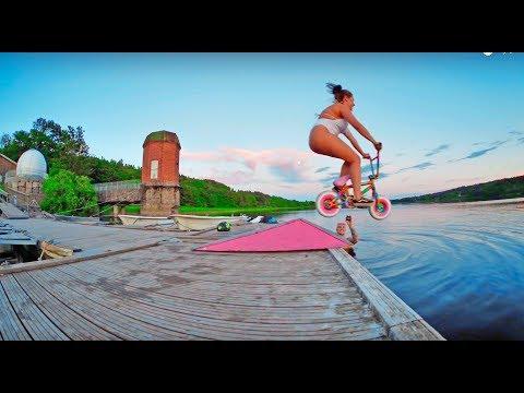 MINI BMX GIRLFRIEND WATER JUMP!!