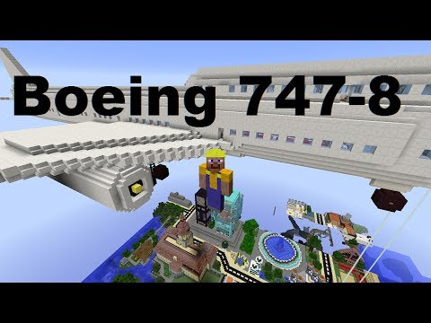 Ultra Realistic Boeing 747-800 Minecraft Build Pt.3 [57] COMPLETED!