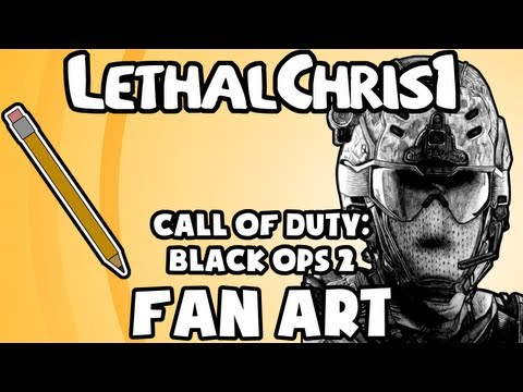Black Ops 2 Drawing - Fan Art Timelapse