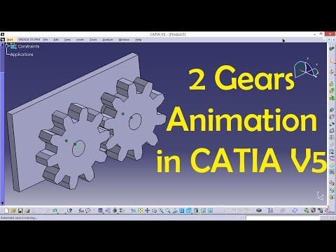 2 Gears Animation in CATIA | CATIA V5 Tutorial | Engineer AutoCAD