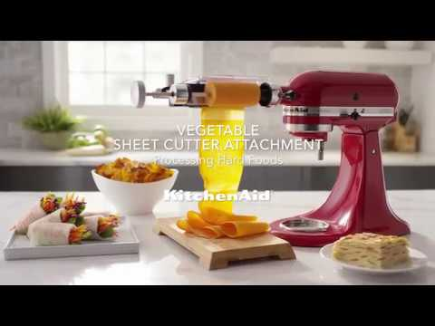 How to: Process Hard Foods with the Vegetable Sheet Cutter Attachment | KitchenAid