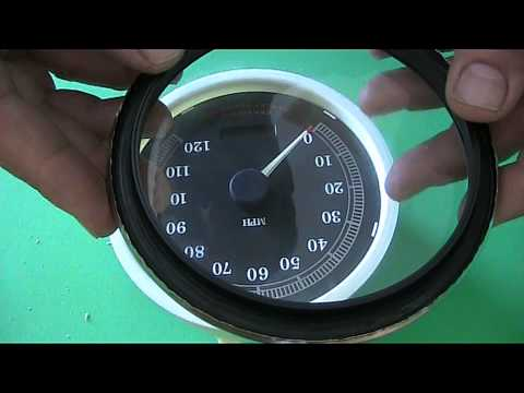HOW TO OPEN HARLEY DAVIDSON SPEEDOMETER DIAL FACE CHANGE