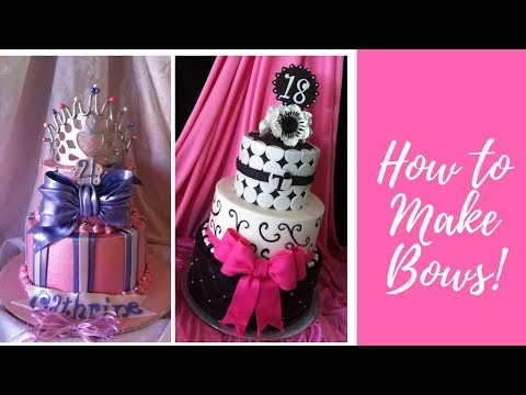 How To Make An EASY FONDANT BOW!