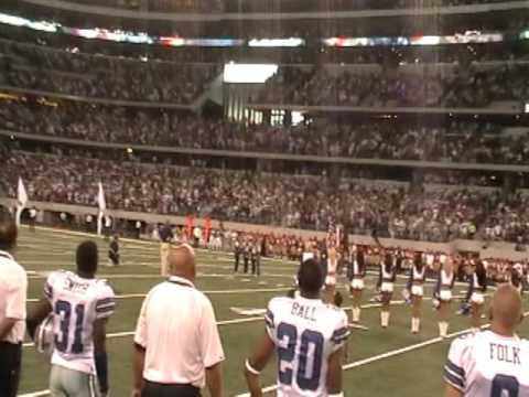 CC's Perform The National Anthem at a Dallas Cowboys Game