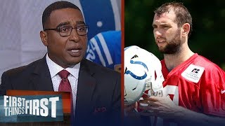 Nick and Cris react to Andrew Luck retiring after 7 seasons with Colts | NFL | FIRST THINGS FIRST