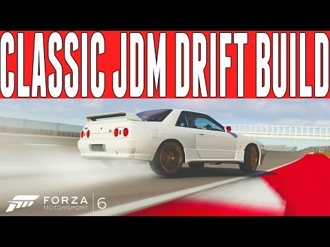 Forza 6 Classic JDM Icon Drift Build : Nissan Skyline GT-R R32 Drift Build