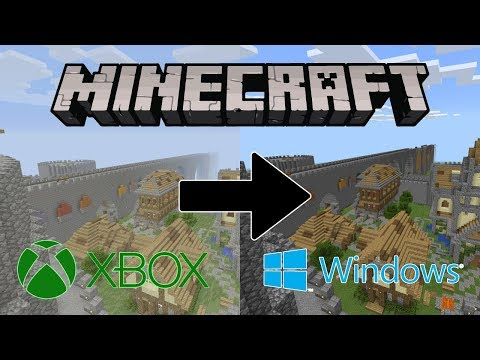 Transfer Xbox One Minecraft Worlds to Windows 10 In Game