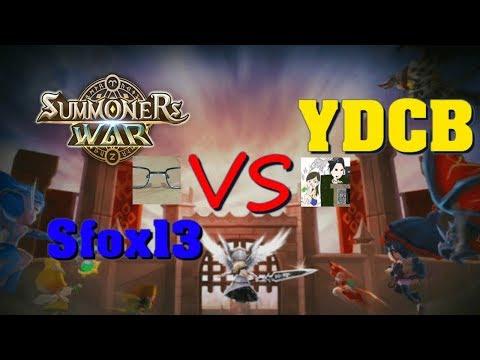 Summoners War - Sfox13 vs YDCB in World Arena goodwill battle!!!